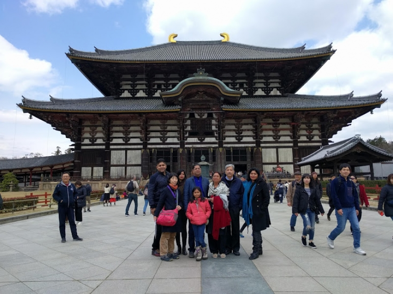 Todaiji Temple with guest from India