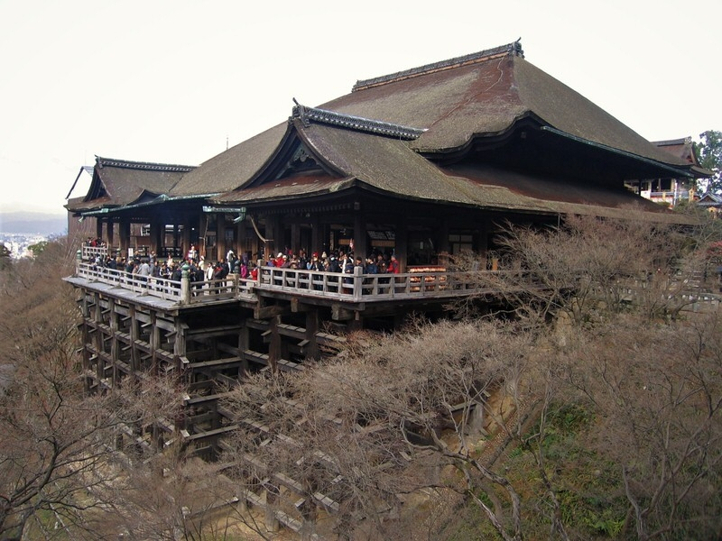 Kiyomizudera Temple and its extended veranda on the clif