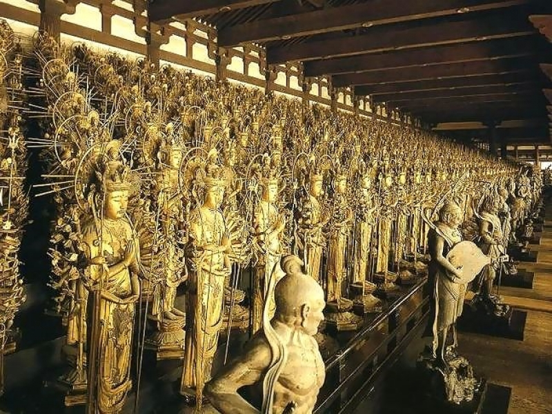 1C. History: Kyoto Sanjusangen-Do Temple (One thousand one statues of Buddha)