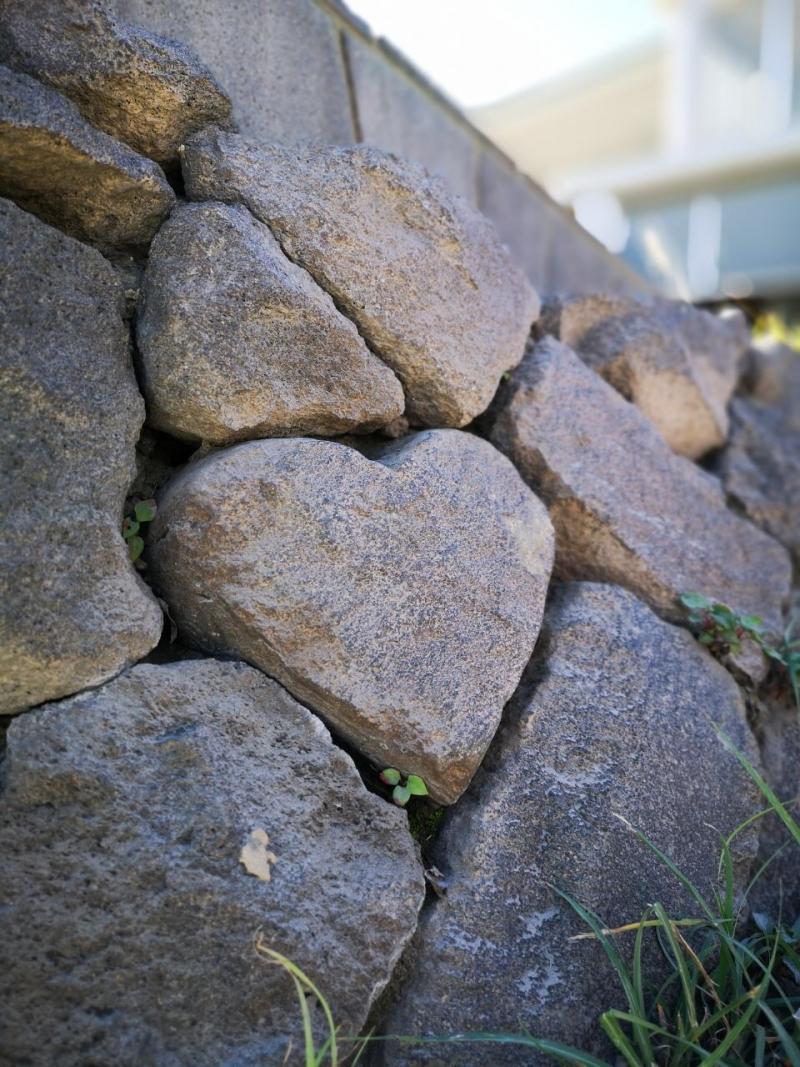 Lucky heart stone