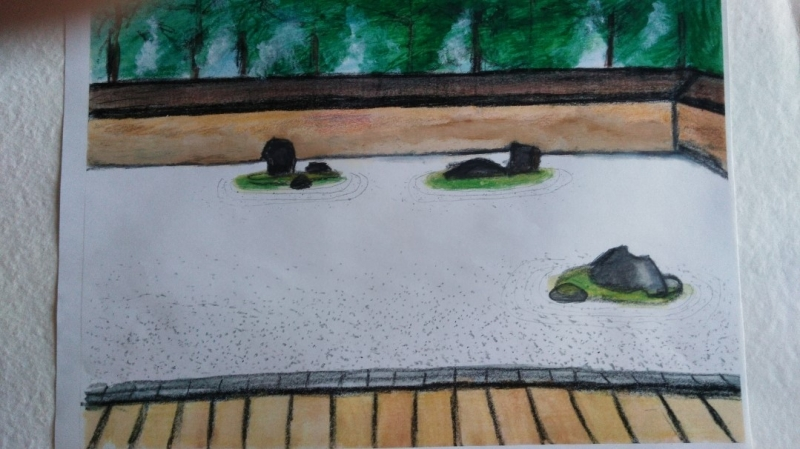 My illustration of the Rock Garden. You will find the secrets of the garden with many illustrations.