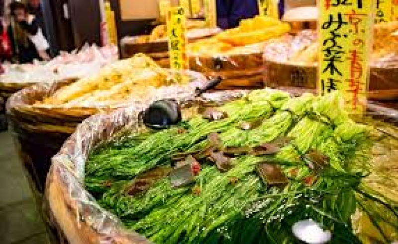 fresh vegetables are mainly used for unique pickles in Kyoto.