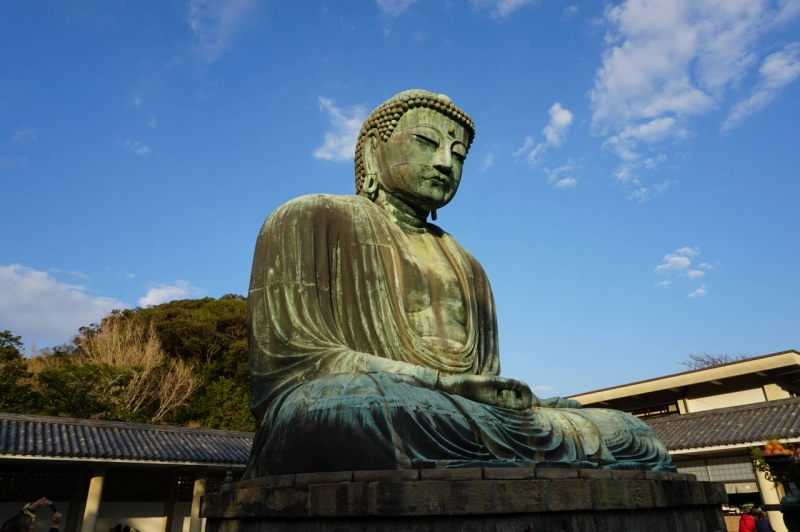 Second largest but said to be the most beautiful ancient statue of Buddah of Japan sits quietly for 8 hundred years