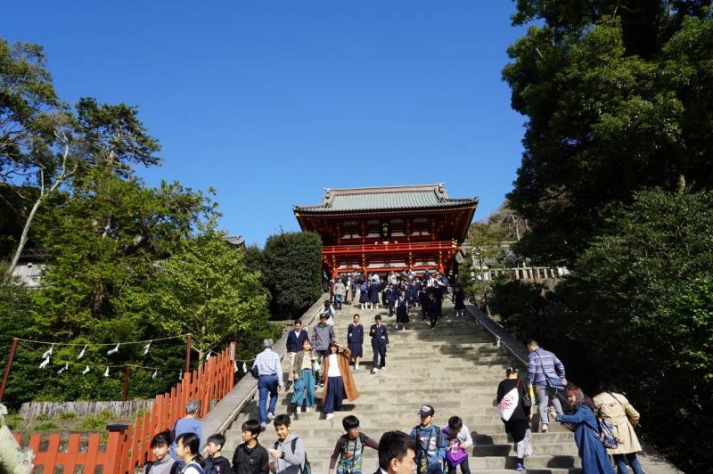 Tsurugaoka-Hachiman Shrine is a 12th century Shinto Shrine
