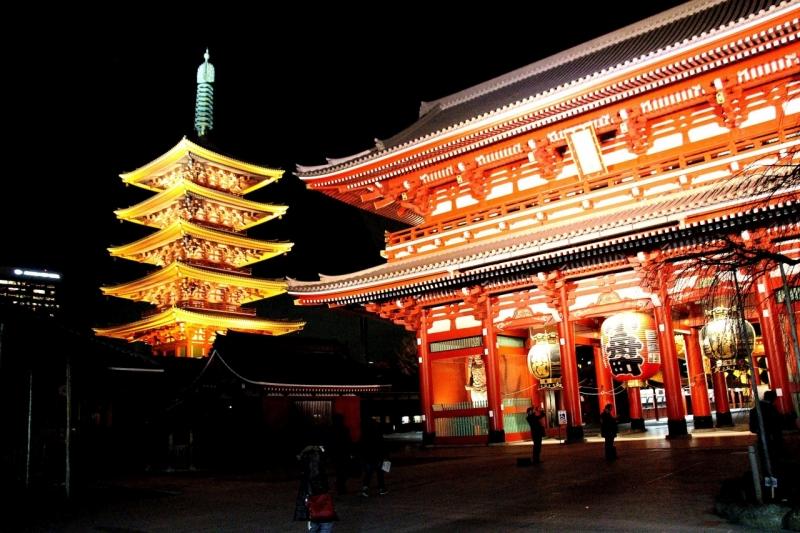 Treasure gate and 5 stories pagoda at Asakusa