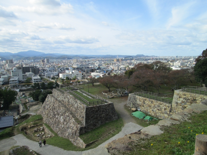 Town View from Tottori Castle Remain