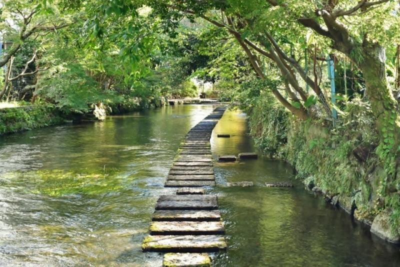 quite clean water of Genbeigawa river