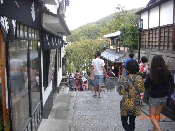 Strolling street near Kiyomizudera Temple