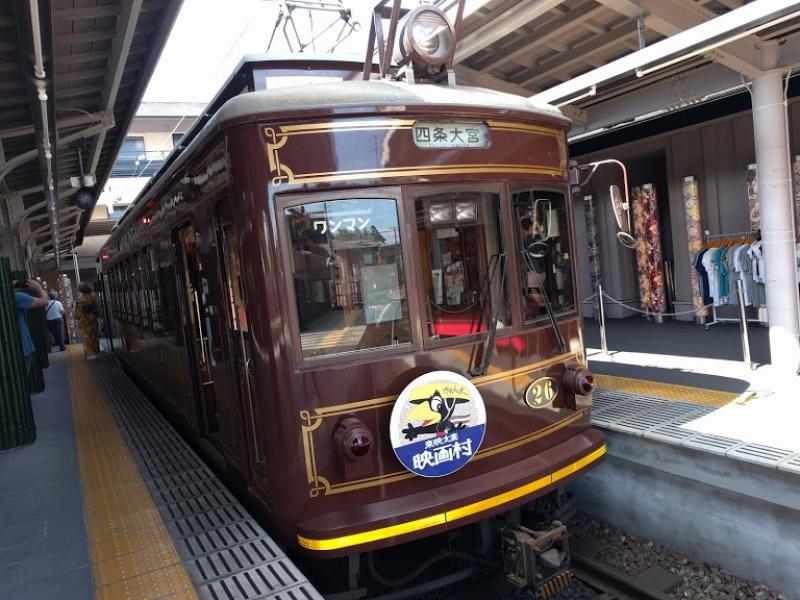 Local train for Arashiyama station