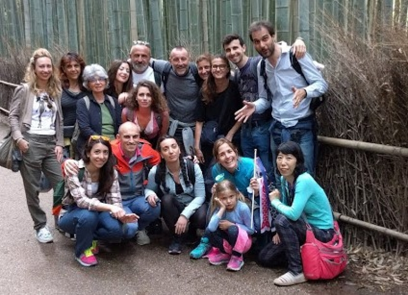 At Bamboo forest with Italian group