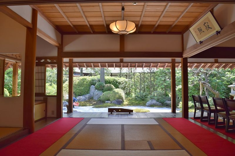 Tea house in Jomyoji Temple.  You can enjoy macha green tea watching a traditional Japanese style garden.