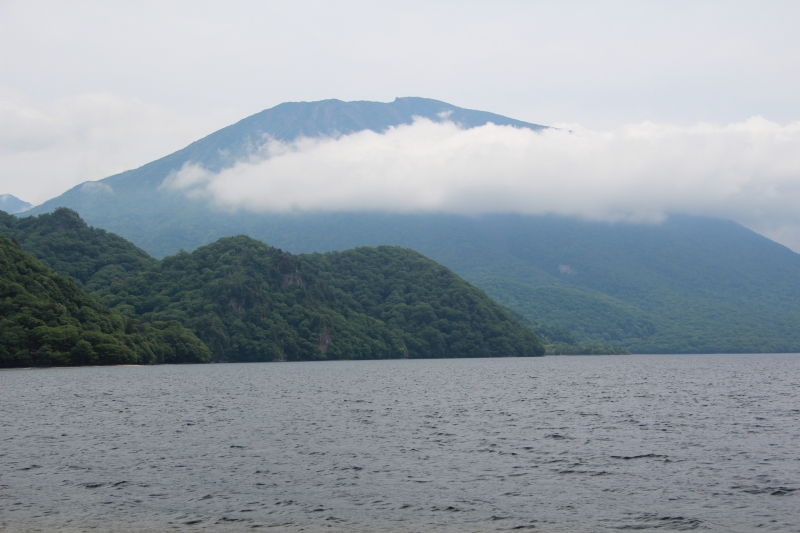 Lake Chuzenji and Mt. Nantai : The lake is located about 1,300 meters above the sea.  It's a dammed lake formed by the eruption of Mt. Nantai 20,000 years ago.