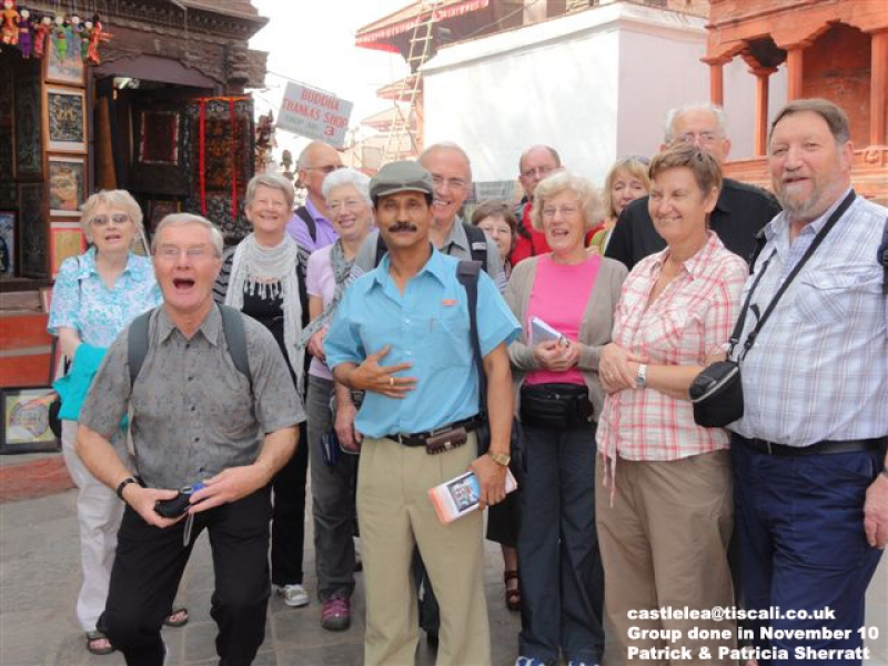 With my group from United Kingdom in Kathmandu Durbar Square.