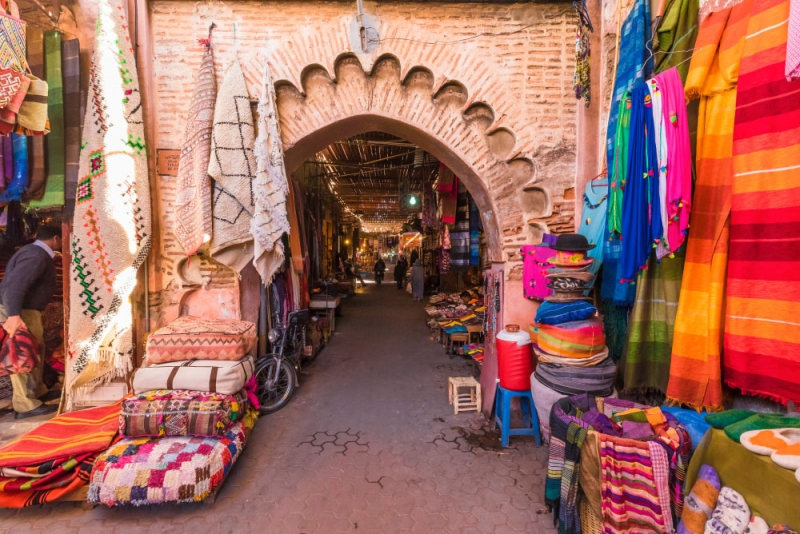 Souks in Medina of Marrakech