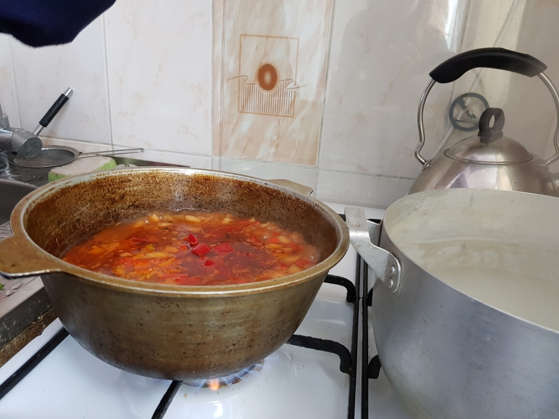 Home Cooking with Kyrgyz Family - Lagman