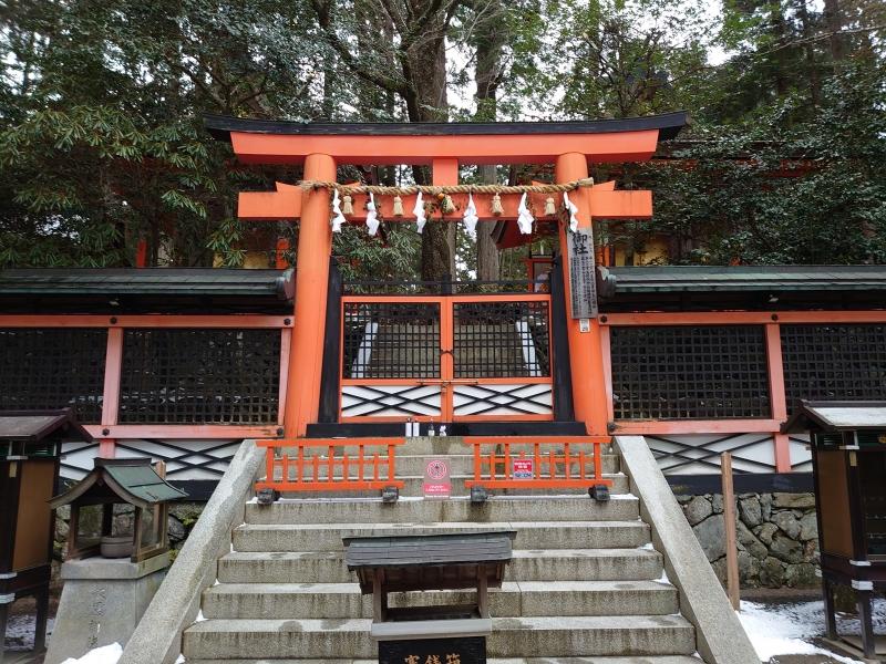 Shimei-myojin shrine in Danjo Garan complex. Symbol of the fusion of Shintoism and Buddhism.