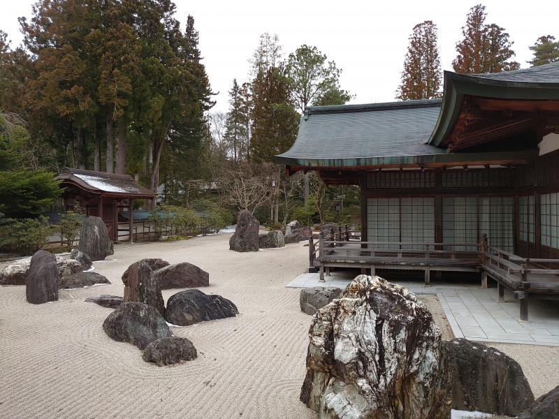 Rock garden,Banryutei in Kongobuji Temple