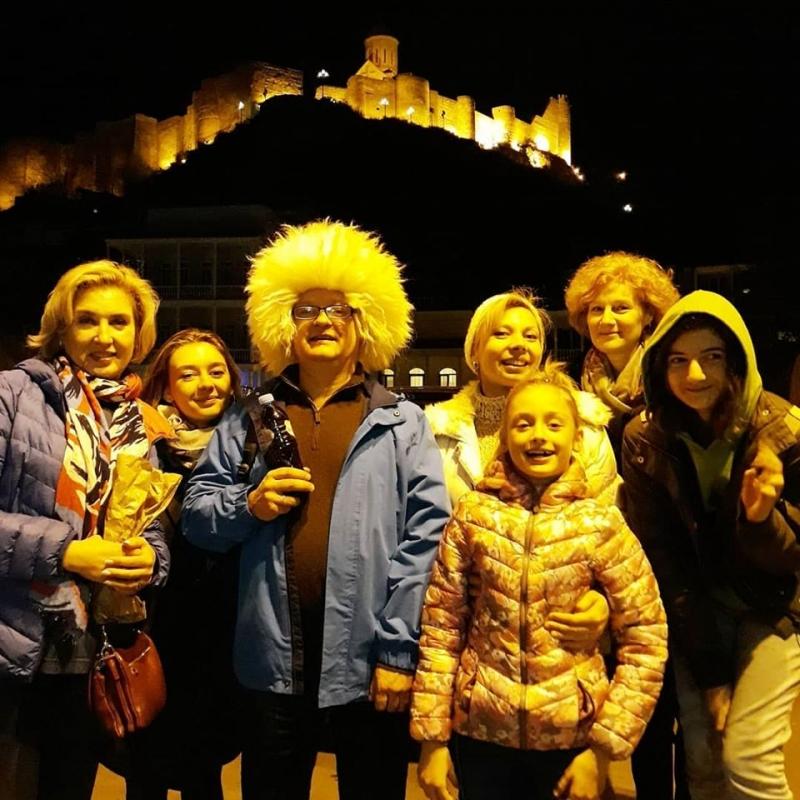 Night Tbilisi. Narikala Fortress view