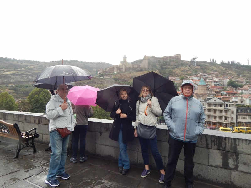 View of Old Tbilisi from Metekhi Church