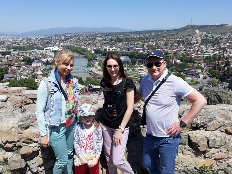 View from Narikala Fortress