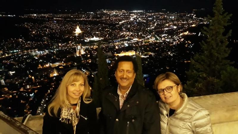 Night Tbilisi from Funicular