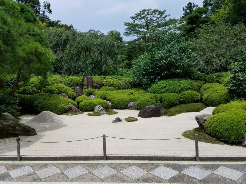 Dry landscape garden always welcomes visitors