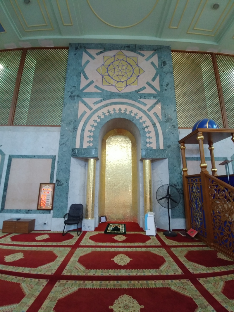 Inside the Grand Mosque in Abidjan
