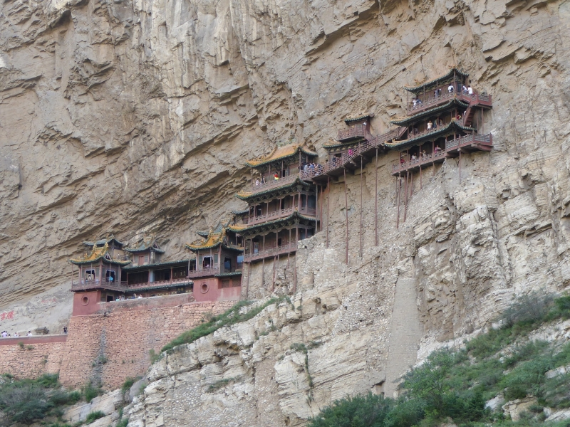 Xuankong Temple, the hanging monastery, temples built into a cliff