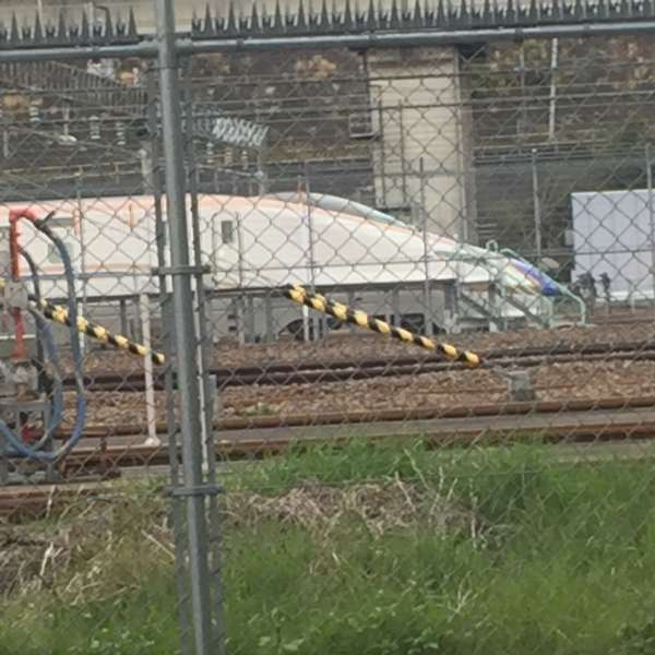A bullet train in the base
