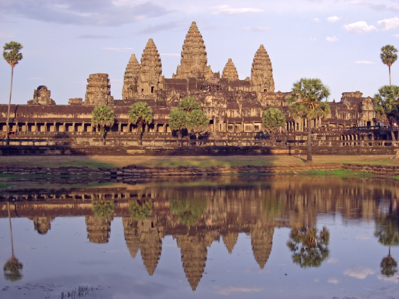 Reflection of Angkor Wat from the northern pond