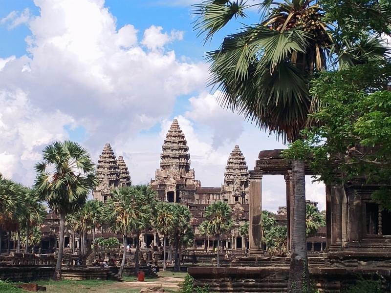 Photo of Angkor Wat from the library