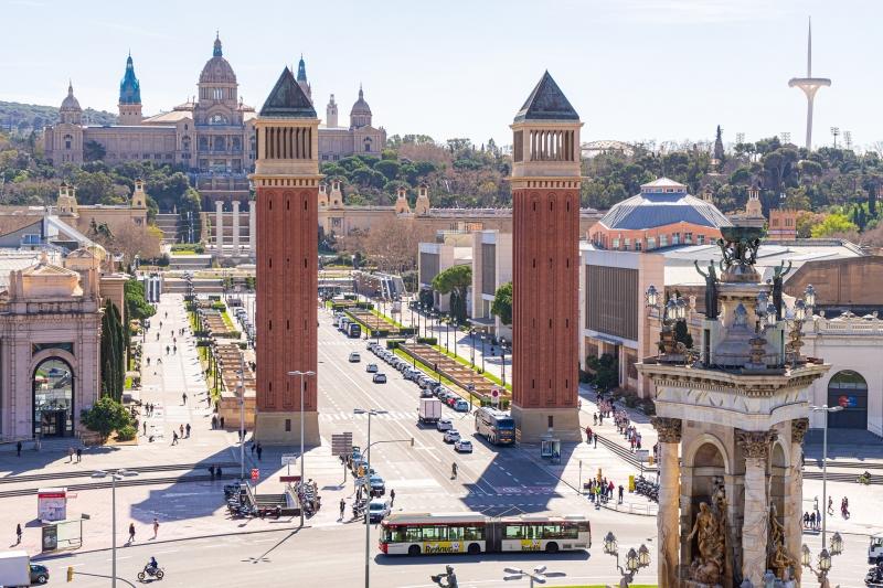 Plaza España and Montjuïc Hill