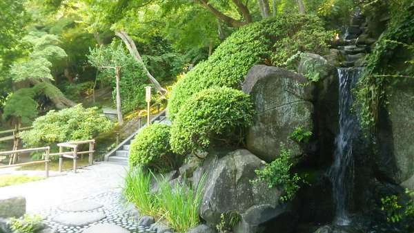 Beautiful Japanese garden in Hase-dera temple