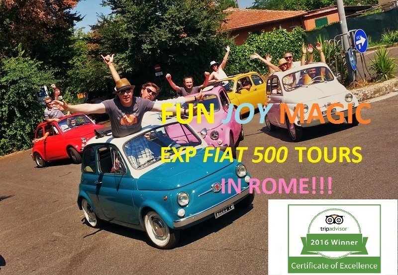 You can't buy happiness, but you can enjoy a Fiat 500 tour and tha's kind of the same thing :)