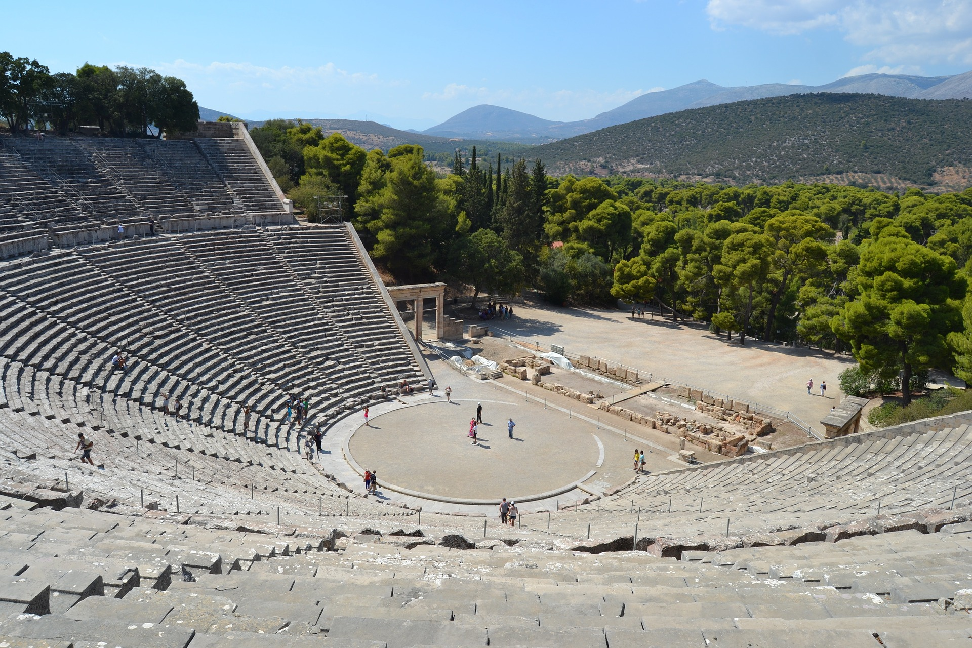 theater of archeological site Epidavros
