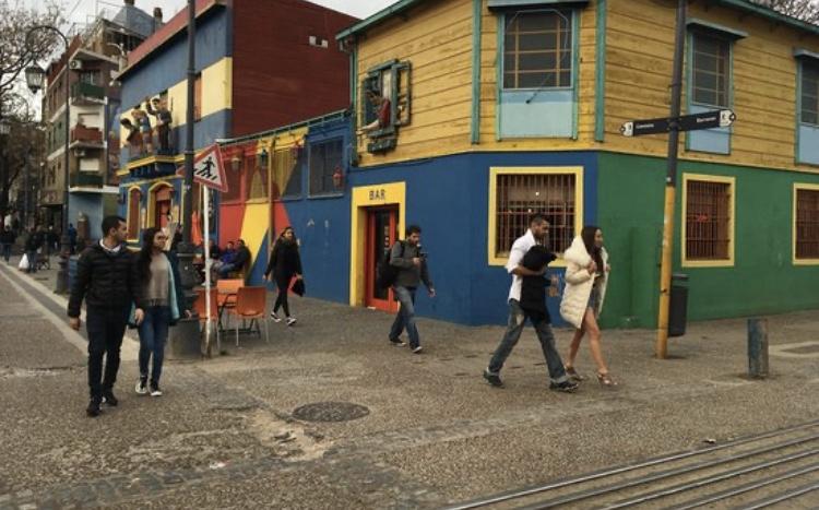Colorful houses of La Boca