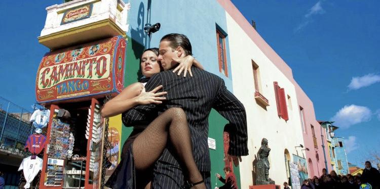 Tango dancers of Caminito Street