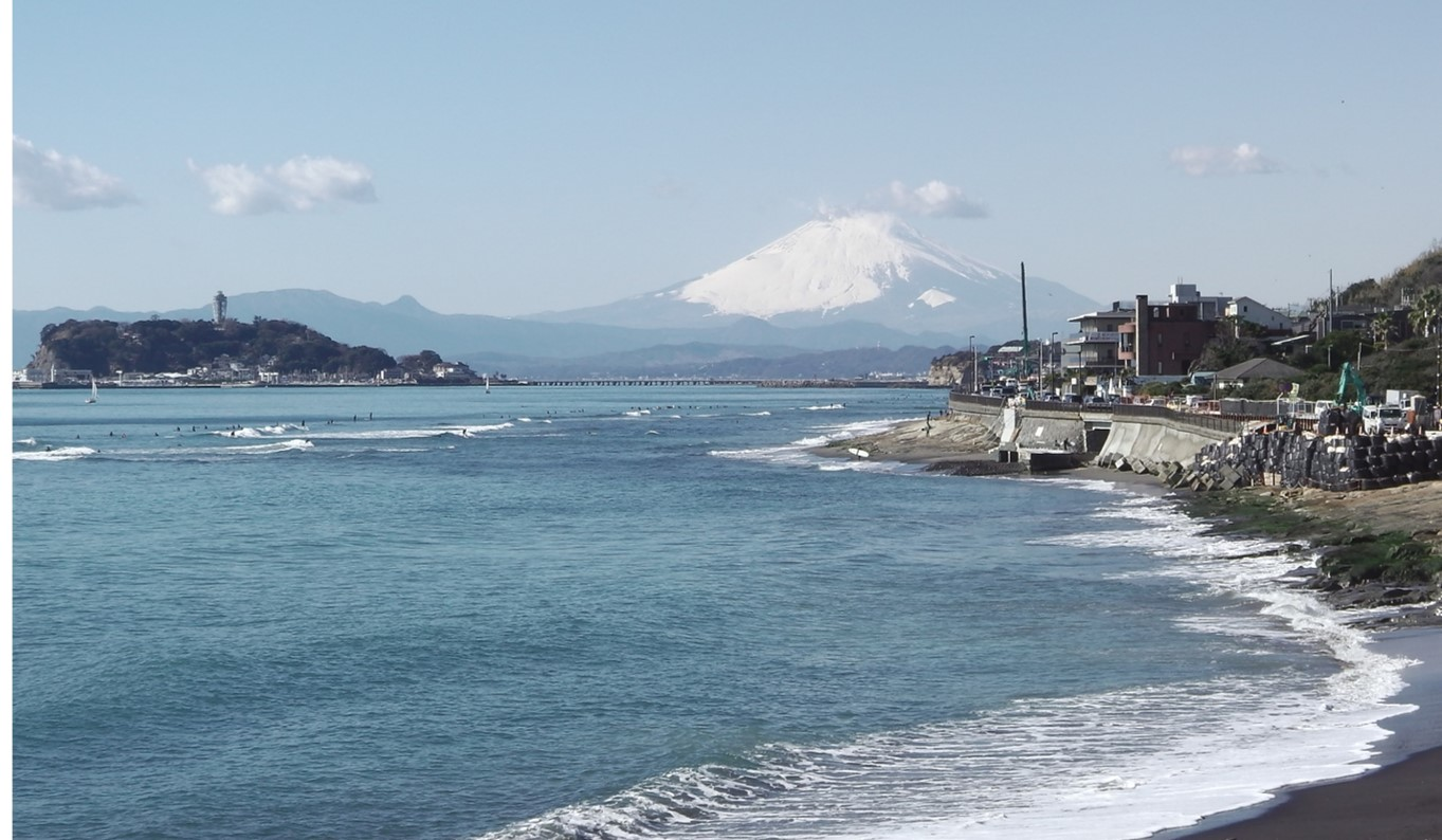Mt. Fuji from Inamura Beach
