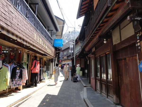 old town street in Arima Hot Spring