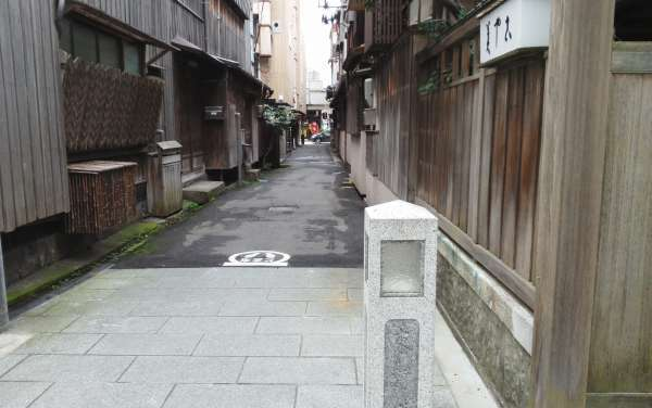 One of the side streets at Furumachi district