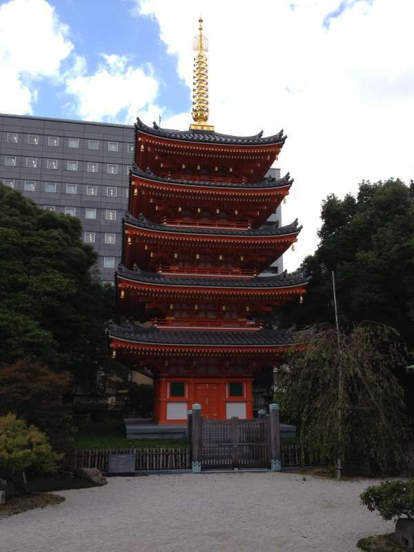 Tocho-ji temple. A symbol of this temple, five-story pagoda welcomes you.