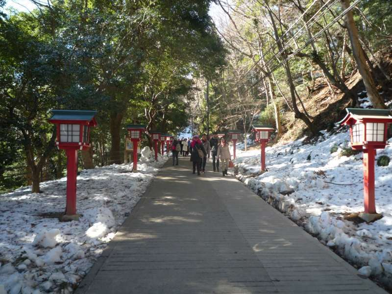 The approach to the temple.