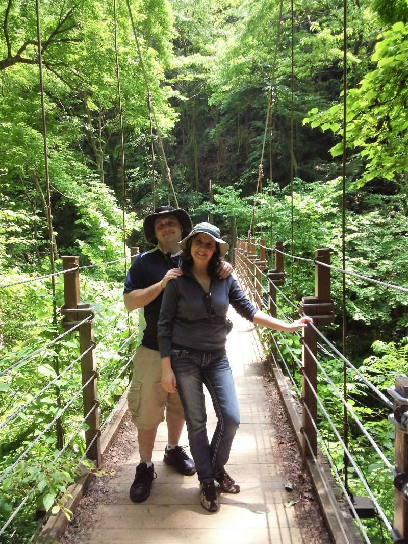 On a suspension bridge
