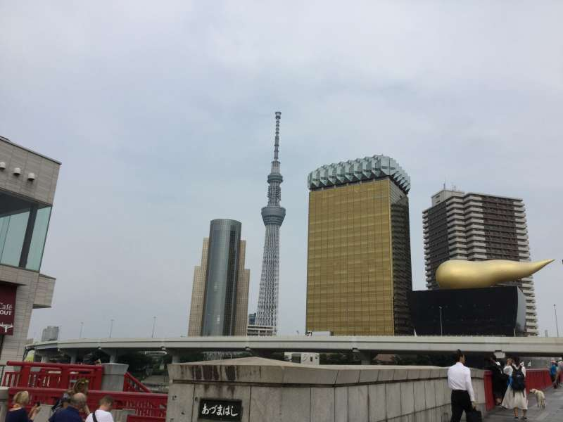 T2. Asakusa and Senso-Ji Temple (View of Tokyo Sky Tree and the headquarters of Asahi beer)