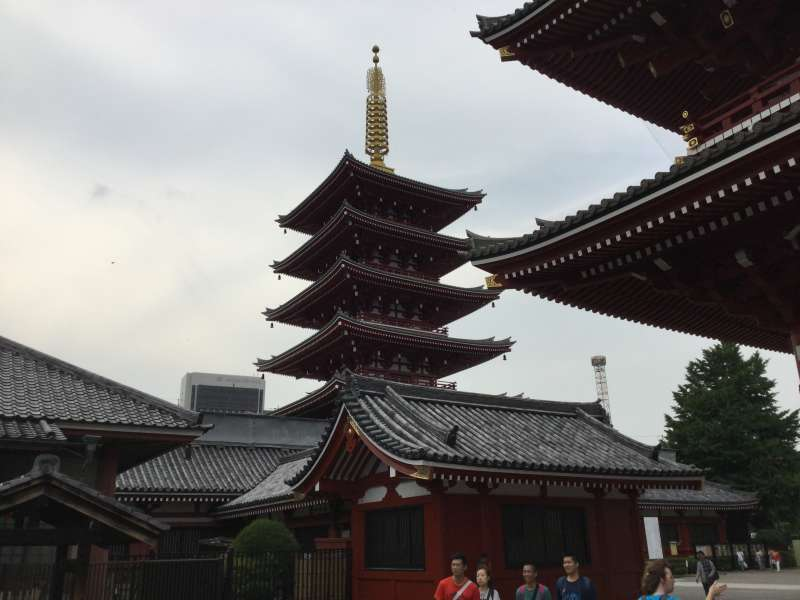T2. Asakusa and Senso-Ji Temple  (Five-story Pagoda of  Senso-Ji Temple)