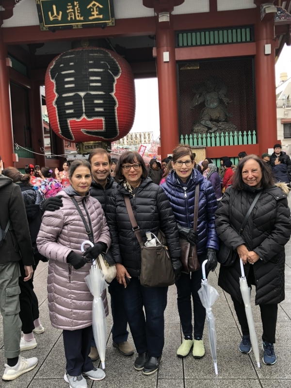 Friendly guests from Toronto in front of Thunder Gate