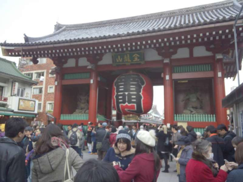The most famous giant lantern:Kaminarimon,Asakusa