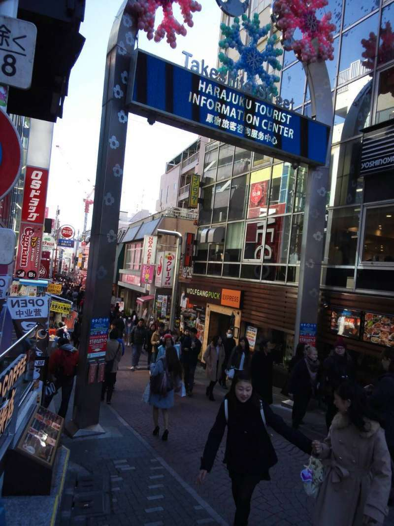 The gate for teen's paradise: Takesita-dori ,in Harajuku