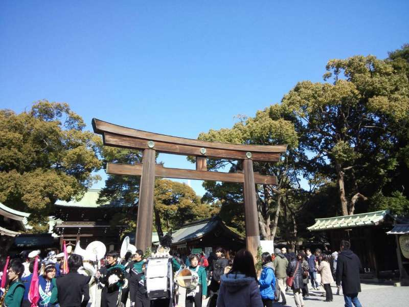 The entrance for main building of Meiji-jingu , in Harajuku