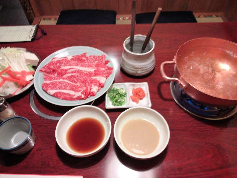Typical Japanese food ,Shabushabu in Asakusa